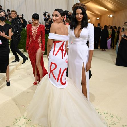 The Met Gala is full of rich people. Alexandria Ocasio-Cortez wore a dress with a message: 'Tax the Rich.'